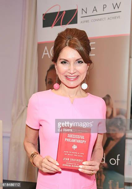 Philanthropist and author Jean Shafiroff attends the NAPW Power Networking Event at Midtown Loft Terrace on October 26 2016 in New York City