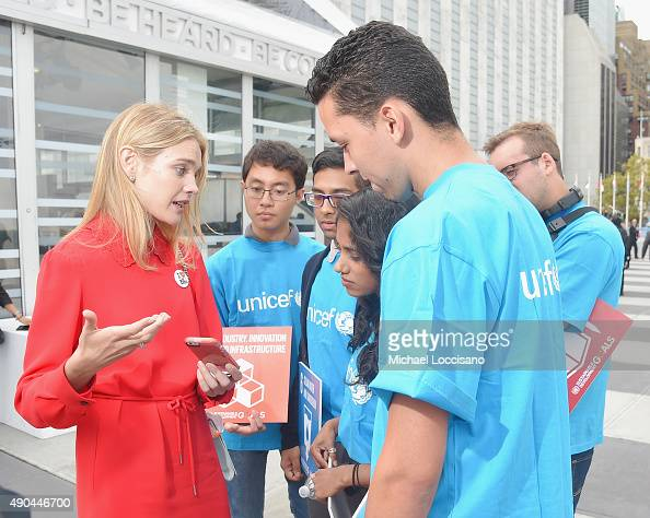 Philanthropist and model Natalia Vodianova attends UNICEF Youth Meet And Greet at United Nations Plaza on September 27 2015 in New York City