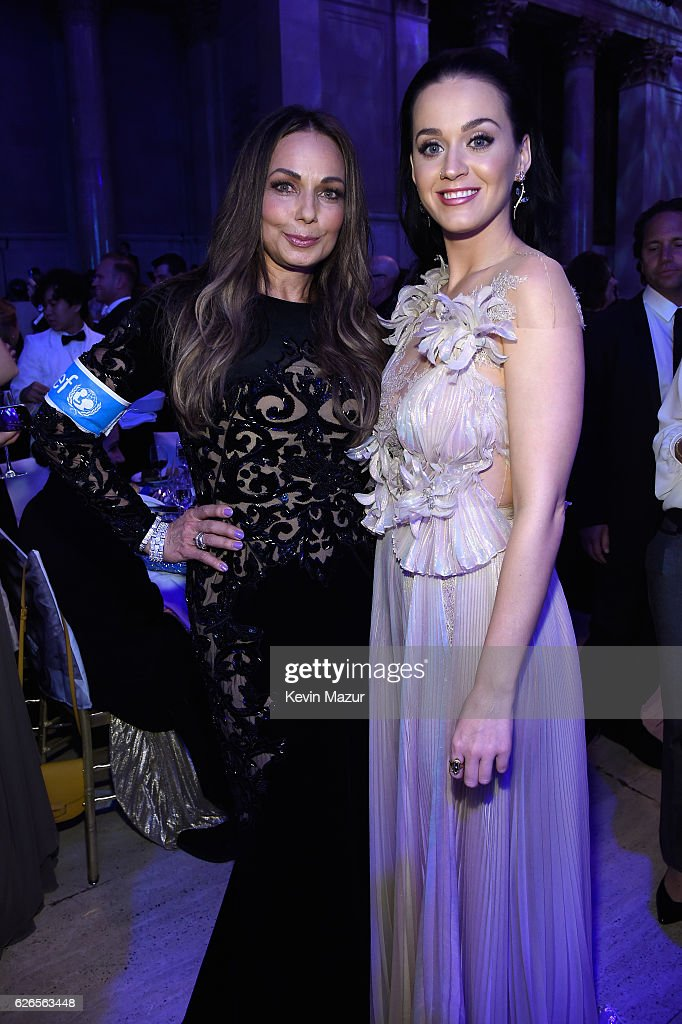 Philanthropist and Spirit of Compassion Award Honoree Moll Anderson, and UNICEF Goodwill Ambassador and Audrey Hepburn Humanitarian Award Honoree Katy Perry attend the 12th annual UNICEF Snowflake Ball at Cipriani Wall Street on November 29, 2016 in New York City.