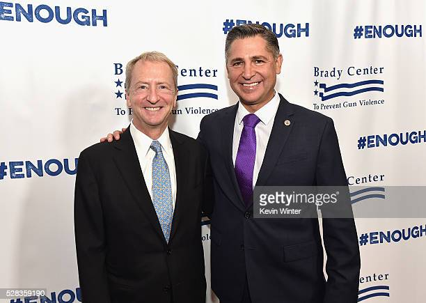 Philanthropist and Tech Entrepreneur David Bohnett Foundation David Bohnett and President Brady Campaign to Prevent Gun Violence Dan Gross attend the...