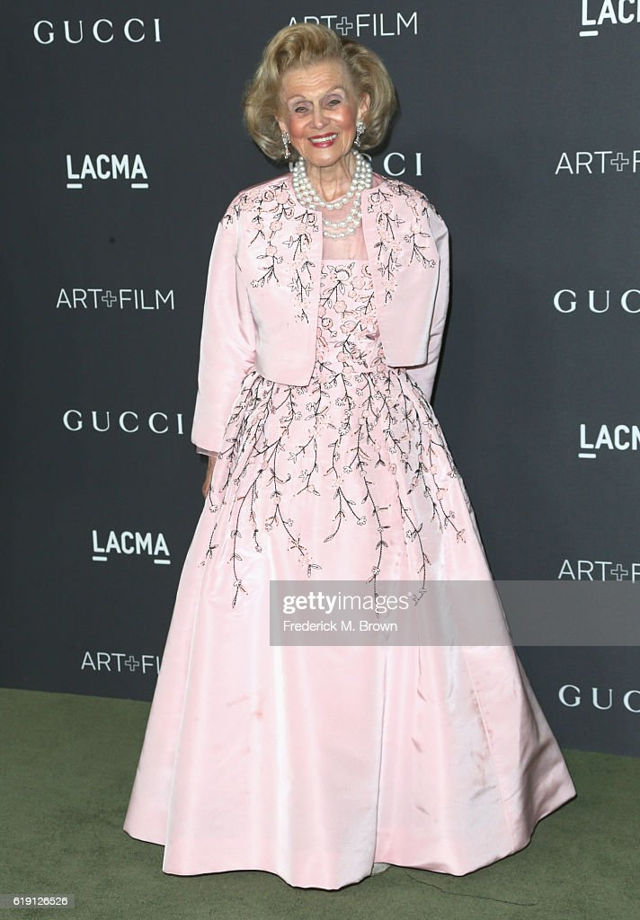 Philanthropist Barbara Davis attends the 2016 LACMA Art + Film Gala honoring Robert Irwin and Kathryn Bigelow presented by Gucci at LACMA on October 29, 2016 in Los Angeles, California.