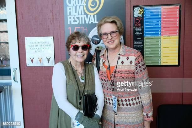 Philanthropist Carolyn Hyatt and Dean Susan Solt at UCSC attend the Santa Cruz Film Festival at Tannery Arts Center on October 15 2017 in Santa Cruz...