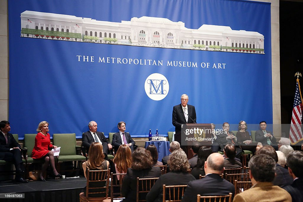 Philanthropist David H. Koch speaks during the Fifth Avenue Plaza Groundbreaking at the Metropolitan Museum of Art on January 14, 2013 in New York City.