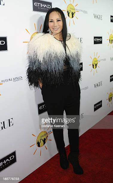 Philanthropist Eva Chow attends Dream for Future Africa Foundation Inaugural Gala honoring Franca Sozzani of VOGUE Italia at Spago on October 24 2013...