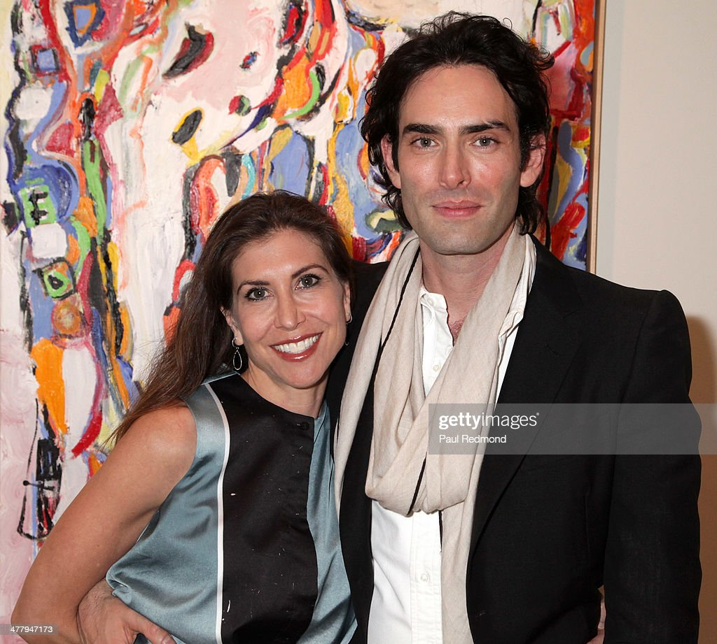 Philanthropist Gillian Wynn and artist Alexander Yulish attend Alexander Yulish 'An Unquiet Mind' VIP Opening Reception at KM Fine Arts LA Studio on March 8, 2014 in Los Angeles, California.