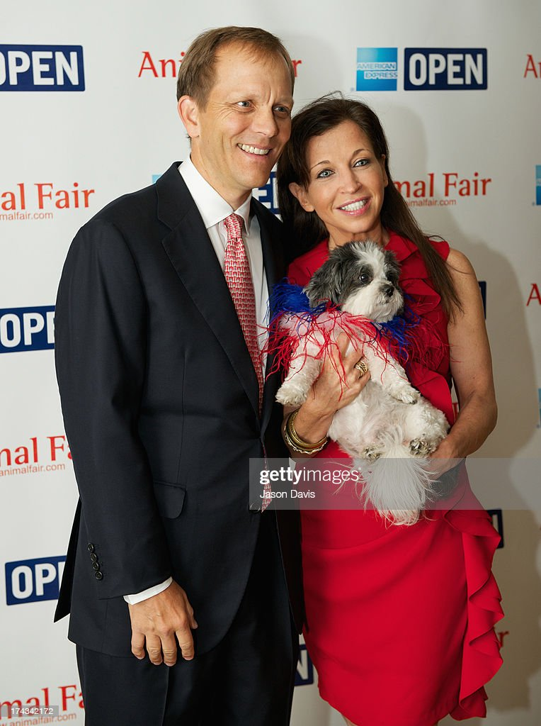 Philanthropist John Ingram and Wendy Diamond attend AnimalFair.com Bark Breakfast Benefiting K9s For Warriors at the Loews Vanderbilt Hotel on July 24, 2013 in Nashville, Tennessee.