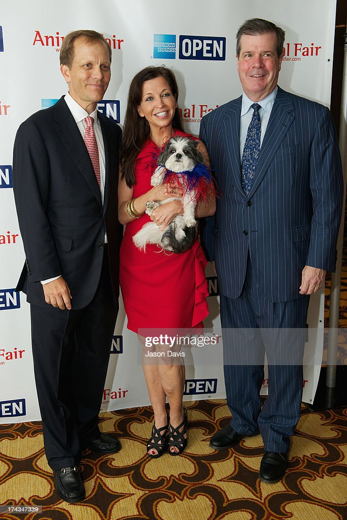Philanthropist John Ingram, Wendy Diamond and Mayor Karl Dean attend AnimalFair.com Bark Breakfast Benefiting K9s For Warriors at the Loews Vanderbilt Hotel on July 24, 2013 in Nashville, Tennessee.