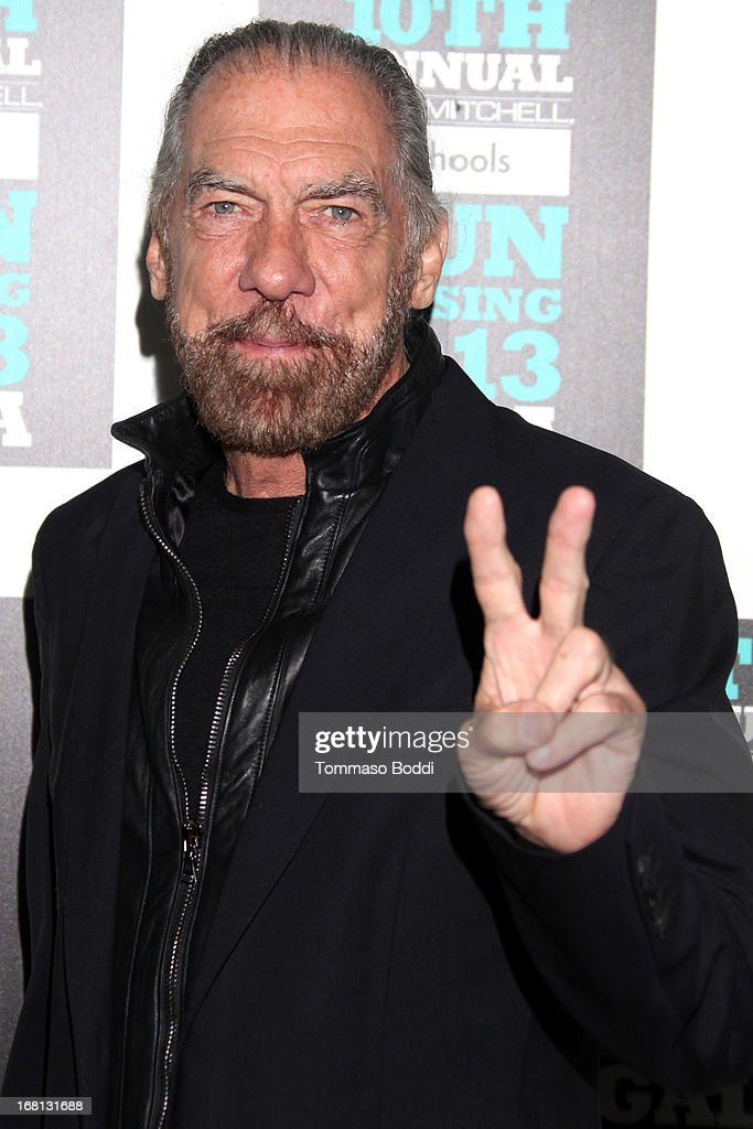 Philanthropist <a gi-track='captionPersonalityLinkClicked' href=/galleries/search?phrase=John+Paul+DeJoria&family=editorial&specificpeople=228016 ng-click='$event.stopPropagation()'>John Paul DeJoria</a> attends the Paul Mitchell's 10th Annual Fundraiser held at The Beverly Hilton Hotel on May 5, 2013 in Beverly Hills, California.