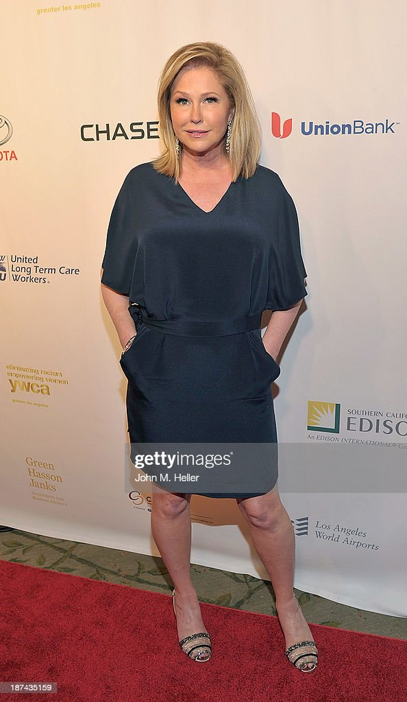 Philanthropist <a gi-track='captionPersonalityLinkClicked' href=/galleries/search?phrase=Kathy+Hilton&family=editorial&specificpeople=209306 ng-click='$event.stopPropagation()'>Kathy Hilton</a> attends the greater Los Angeles YWCA Rhapsody Ball at the Beverly Hills Hotel on November 8, 2013 in Beverly Hills, California.