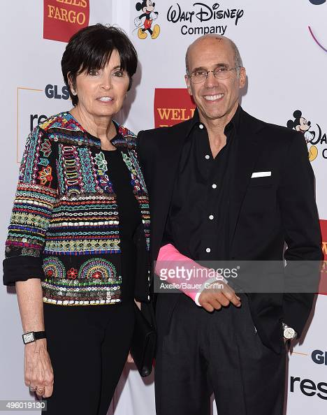 Philanthropist Marilyn Katzenberg and DreamWorks Animation CEO Jeffrey Katzenberg arrive at the 2015 GLSEN Respect Awards at the Beverly Wilshire...