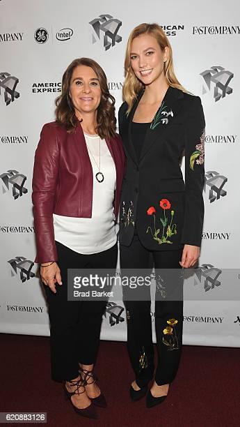 Philanthropist Melinda Gates and Model Karlie Kloss attend the Fast Company Innovation Festival 2016 Melinda Gates Facebook's Regina Dugan at...
