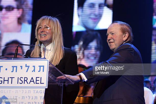 Philanthropist Sheldon Adelson and his wife Miriam Adelson are seen during TaglitBirthright annual event on January 01 2009 in Jerusalem Israel