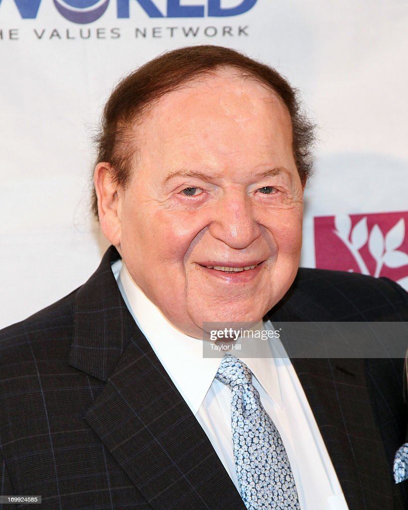 Philanthropist <a gi-track='captionPersonalityLinkClicked' href=/galleries/search?phrase=Sheldon+Adelson&family=editorial&specificpeople=539717 ng-click='$event.stopPropagation()'>Sheldon Adelson</a> attends the Champion Of Jewish Values International Awards Gala at The New York Marriott Marquis on June 4, 2013 in New York City.