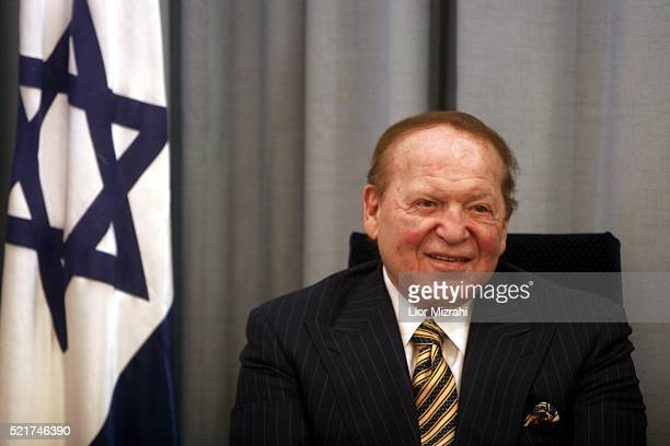 Philanthropist Sheldon Adelson is seen during a ceremony in The Israeli President house on August 12 2007 in Jerusalem Israel