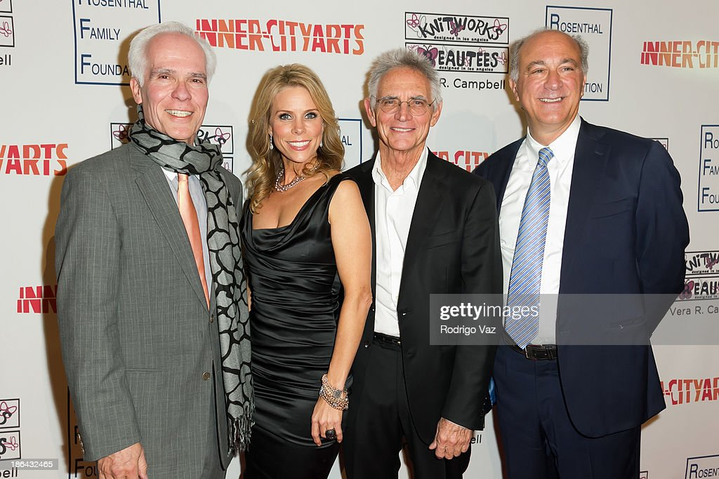 Philantropist Gil Garcetti, actress <a gi-track='captionPersonalityLinkClicked' href=/galleries/search?phrase=Cheryl+Hines&family=editorial&specificpeople=209249 ng-click='$event.stopPropagation()'>Cheryl Hines</a>, artist Charles Arnoldi and designer <a gi-track='captionPersonalityLinkClicked' href=/galleries/search?phrase=Ralph+Pucci&family=editorial&specificpeople=4346751 ng-click='$event.stopPropagation()'>Ralph Pucci</a> attend the Inner-City Arts Imagine Gala at The Beverly Hilton Hotel on October 30, 2013 in Beverly Hills, California.