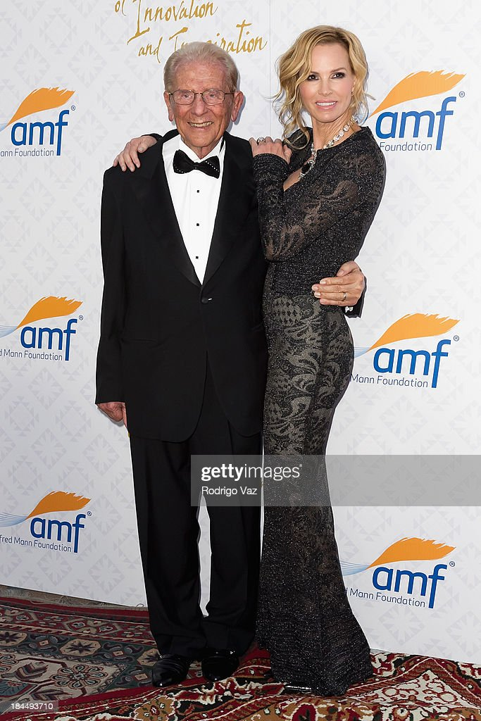 Philantropists Alfred E. Mann (L) and Janet Jones attend the 10th Annual Alfred Mann Foundation Gala on October 13, 2013 in Beverly Hills, California.