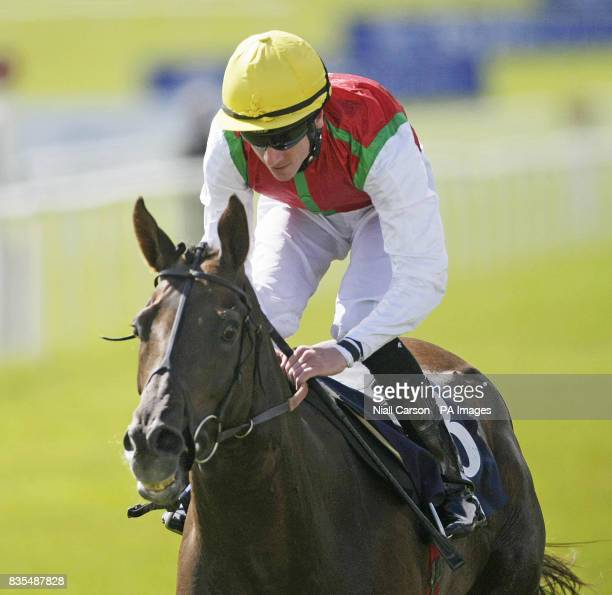 Philario ridden by Martin Lane goes on to win the Boylepokercom Handicap during the Boylesportscom Irish 2000 Guineas Day at Curragh Racecourse Co...