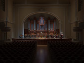 Philarmonie Hall Orchestra  on the stage 3d rendering