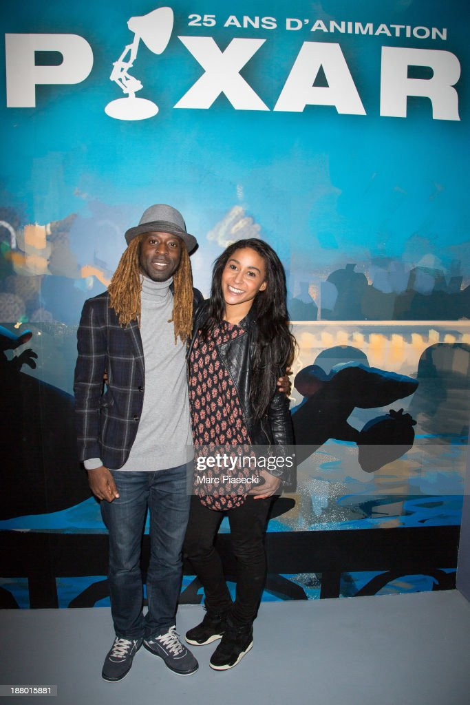 Philemon and Gaelle Lalanne attend the 'Pixar, 25 years of animation' exhibition on November 14, 2013 in Paris, France.