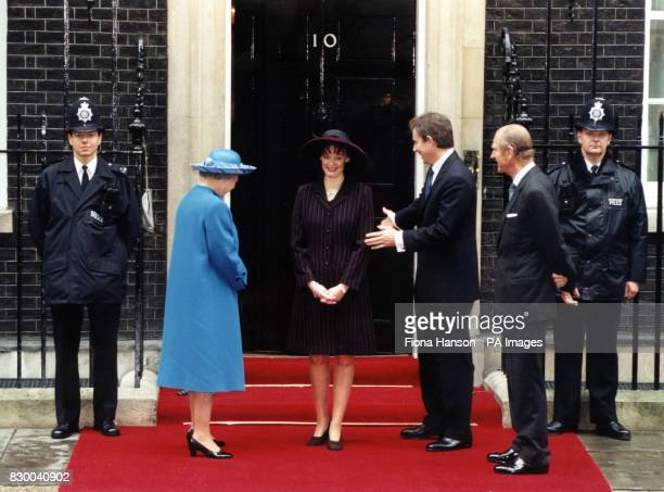 Philip AT NUMBER 10 DOWNING STREET FOR THE ROYAL GOLDEN WEDDING ANNIVERSARY WALKABOUT