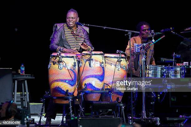 Philip Bailey and Philip Bailey Jr of Earth Wind Fire perform at Concord Pavilion on July 15 2015 in Concord California