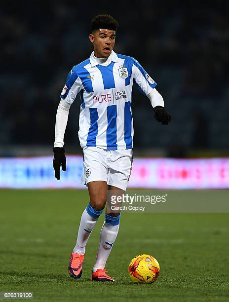 Philip Billing of Huddersfield during the Sky Bet Championship match between Huddersfield Town and Wigan Athletic at John Smith's Stadium on November...