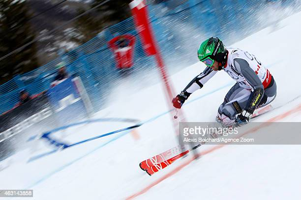 Philip Brown of Team Canada wins a silver medal during the FIS Alpine World Ski Championships Nations Team Event on February 10 2015 in Vail/Beaver...