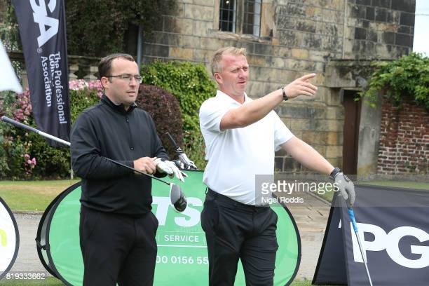 Philip Cary of Manor Golf Club and Craig Fletcher of The Golf Academy during the Golfbreakscom PGA Fourball Championship North Qualifier at Woodsome...
