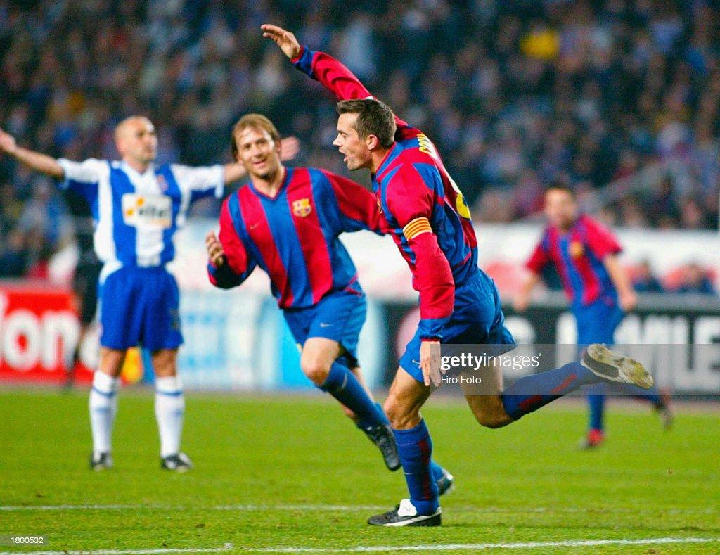 Philip Cocu celebrates his goal