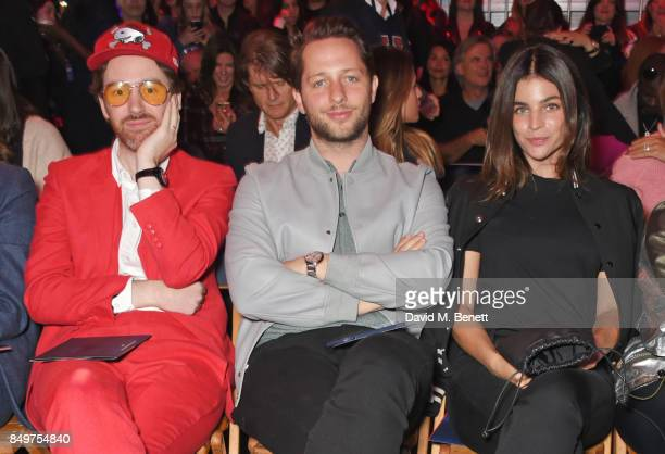 Philip Colbert Derek Blasberg and Julia Restoin Roitfeld attend the Tommy Hilfiger TOMMYNOW Fall 2017 Show during London Fashion Week September 2017...