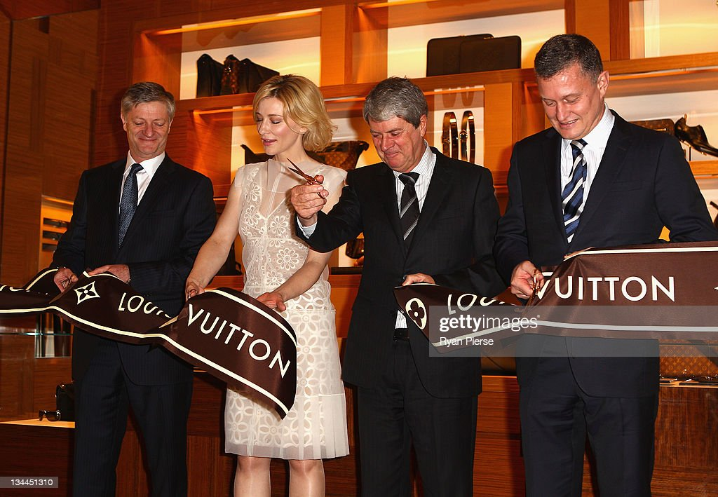 Philip Corne General Manager Louis Vuitton Actress Cate Blanchett Yves Carcelle Chairman CEO Louis Vuitton JeanBaptiste Debains President Louis...