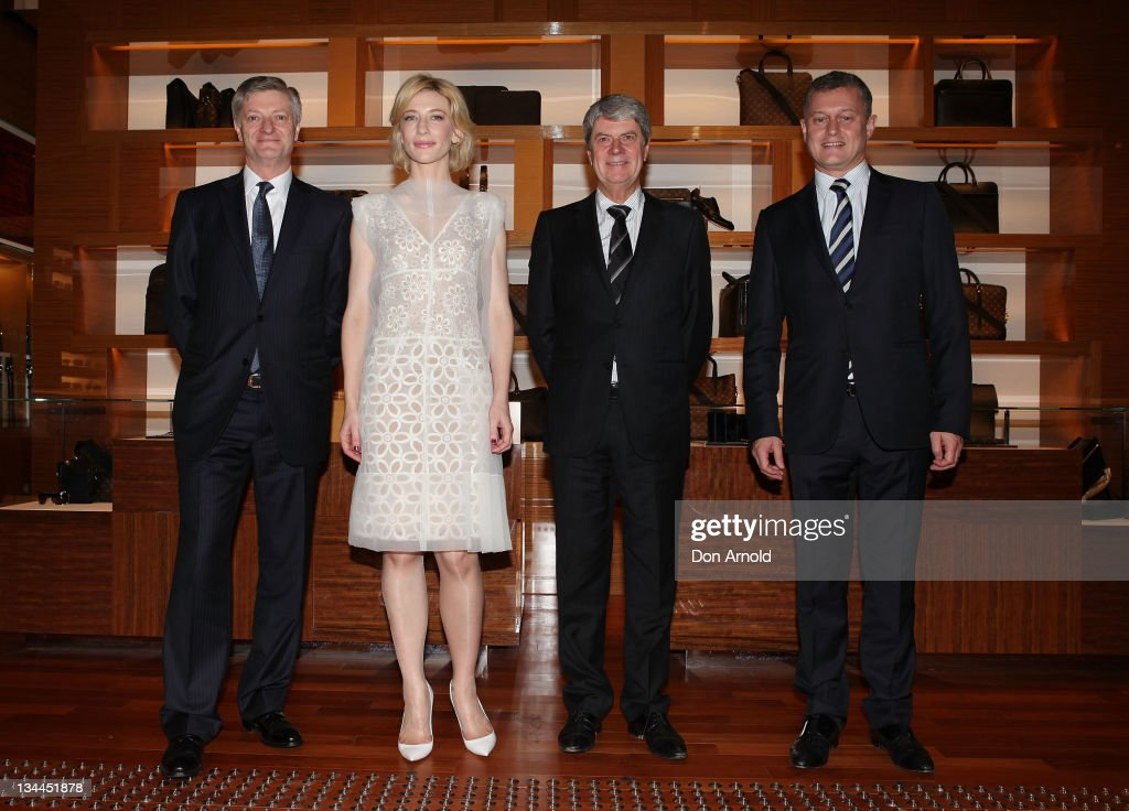 Philip Corne General Manager Louis Vuitton Actress Cate Blanchett Yves Carcelle Chairman CEO Louis Vuitton and JeanBaptiste Debains President Louis...