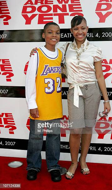 Philip Daniel Bolden and Aleisha Allen during The Premiere of Revolution Studios' and Columbia Pictures' 'Are We Done Yet' Arrivals at Mann Village...