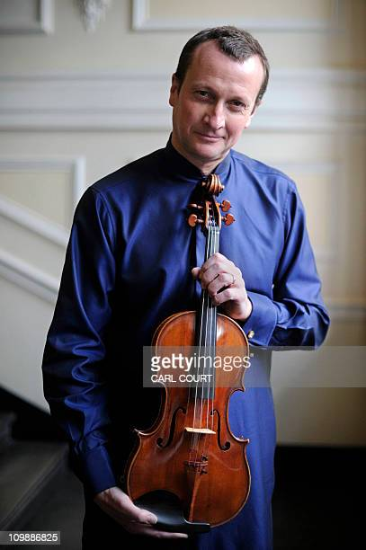 Philip Dukes a teacher at the Royal Academy of Music and international soloist holds a Stradivarius Archinto viola said to be one of the rarest...