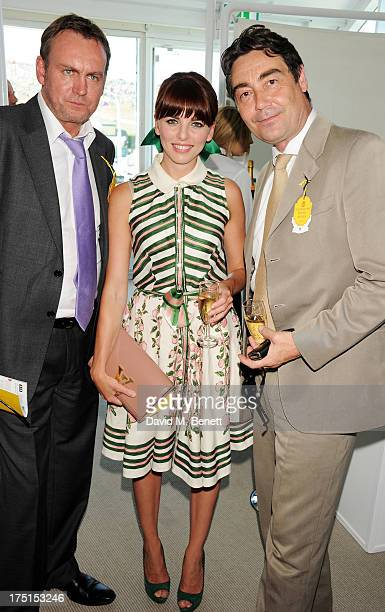 Philip Glenister Ophelia Lovibond and Nathaniel Parker attend Ladies Day hosted by Audi at Glorious Goodwood held at Goodwood Racecourse on August 1...