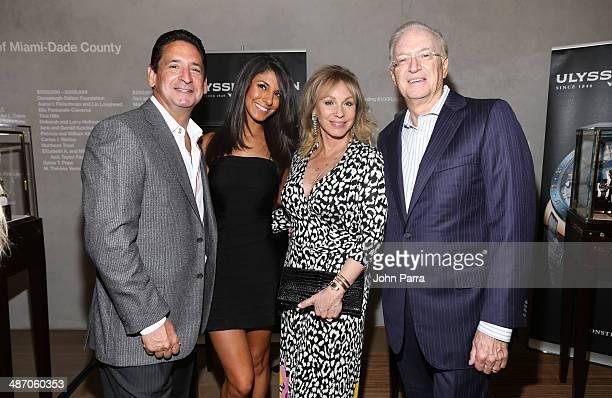 Philip Goldfarb Anna Georgalis Lea Black and Roy Black attend the Haute Living Miami Haute 100 Dinner Presented By Dom Perignon And Jade Signature at...