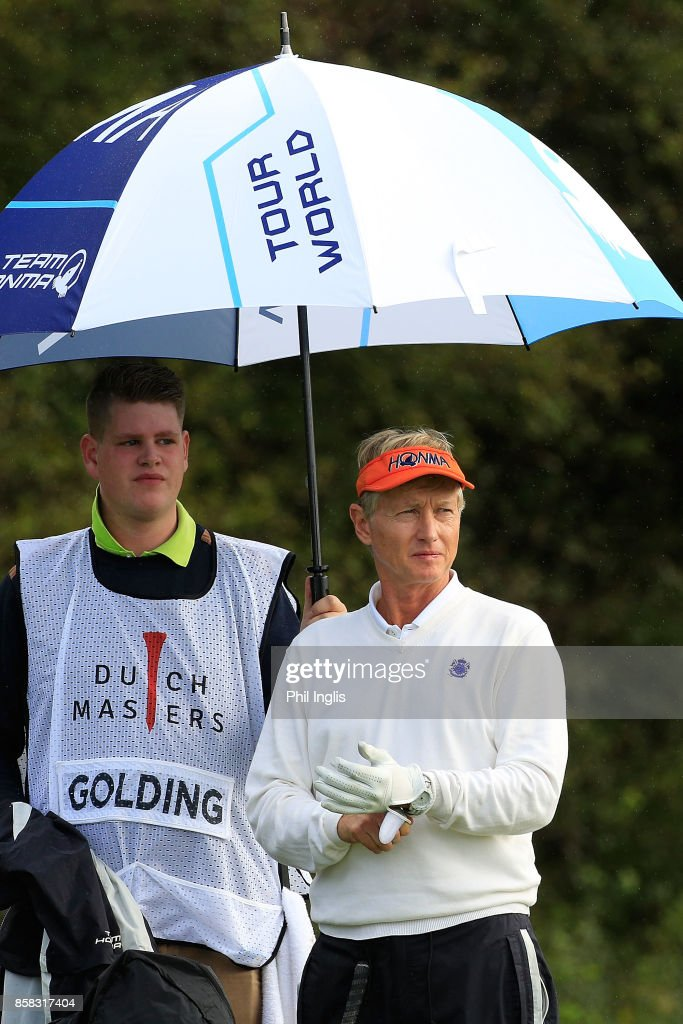 Philip Golding of England in action during the first round of the Dutch Senior Masters played at The Dutch on October 6, 2017 in Spijk, Netherlands.