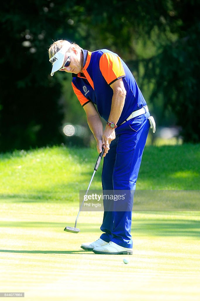 Philip Golding of England in action during the the first round of the Swiss Seniors Open played at Golf Club Bad Ragaz on July 1, 2016 in Bad Ragaz, Switzerland.