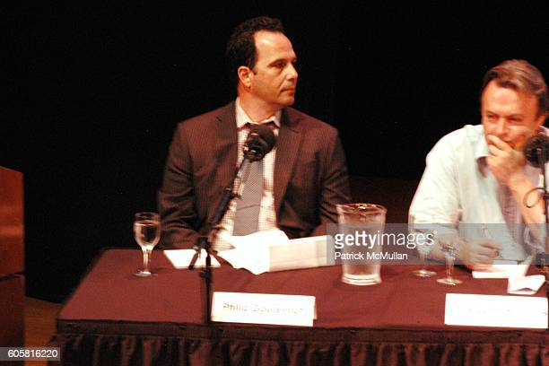 Philip Gourevitch and Christopher Hitchens attend INTELLIGENCE SQUARED presents 'Freedom of Expression Must Include the License to Offend' Debate at...
