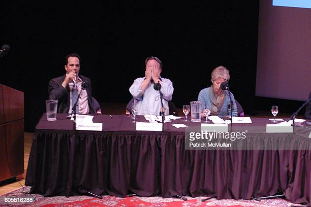 Philip Gourevitch Christopher Hitchens and Signe Wilkinson attend INTELLIGENCE SQUARED presents 'Freedom of Expression Must Include the License to...