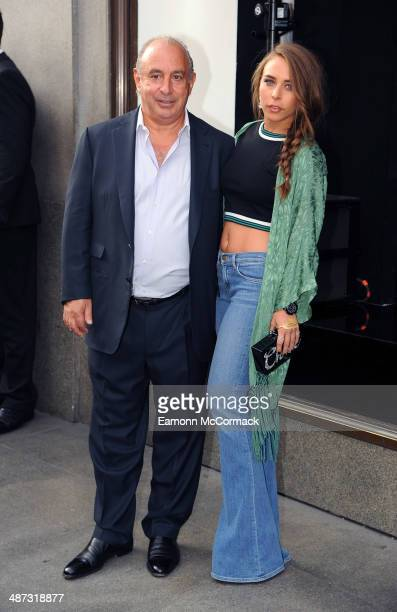 Philip Green and Chloe Green attend a photocall to launch the Kate Moss For TopShop collection at TopShop on April 29 2014 in London England