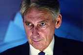Philip Hammond Britain's newly appointed Foreign Secretary attends a press conference in the British Display at the Farnborough air show in Hampshire...
