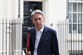 Philip Hammond the Foreign Secretary leaves Downing Street after attending an emergency COBRA committee meeting on September 14 2014 in London...