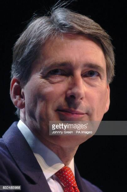 Philip Hammond the Shadow Secretary of State for Work and Pensions delivers a speech on the third day of the Conservative annual conference in...