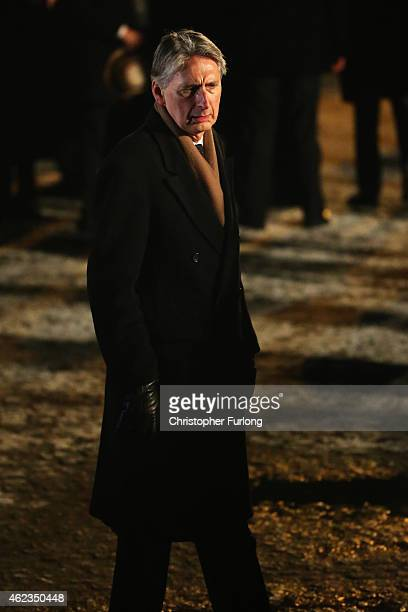 Philip Hammond the United Kingdom Foreign Minister at the Birkenau Memorial during the commemoration of the 70th anniversary of the liberation of...