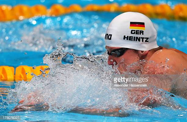 Philip Heintz of Germany competes during the Swimming Men's 200m Medley preliminaries heat three on day twelve of the 15th FINA World Championships...