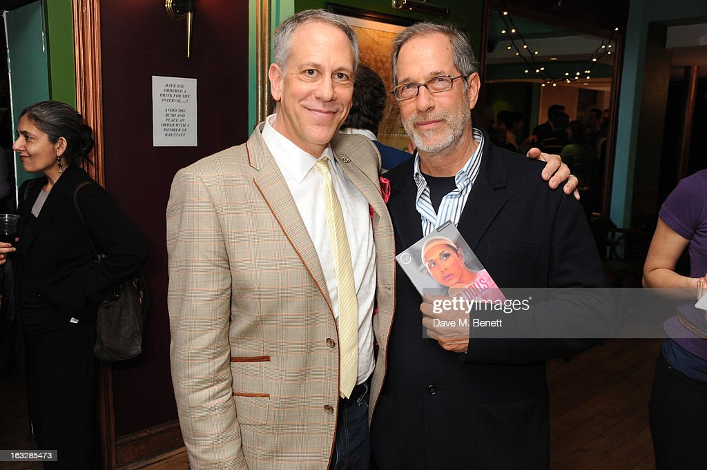 Philip Himberg and Stanley Buchthal attend an after party following the 'Paper Dolls' press night at Tricycle Theatre on March 6, 2013 in London, England.