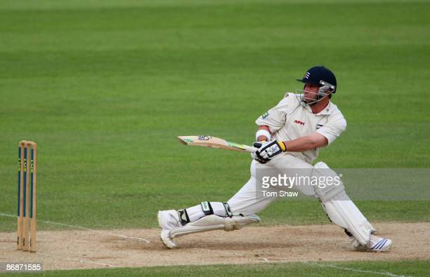 Philip Hughes of Middlesex hits out during day 4 of the LV County Championship match between Surrey and Middlesex on May 9 2009 in London England