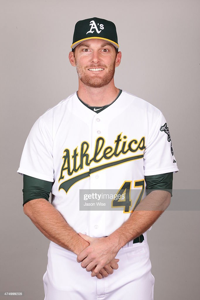 <a gi-track='captionPersonalityLinkClicked' href=/galleries/search?phrase=Philip+Humber&family=editorial&specificpeople=836505 ng-click='$event.stopPropagation()'>Philip Humber</a> #47 of the Oakland Athletics poses during Photo Day on Saturday, February 22, 2014 at Phoenix Municipal Stadium in Phoenix, Arizona.