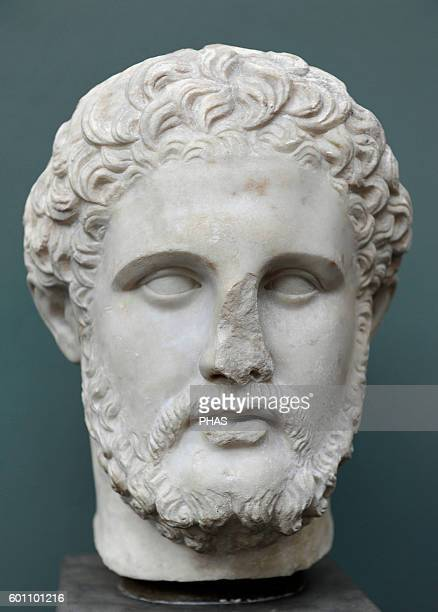 Philip II of Macedon King of the Ancient Greek Kingdom of Madedom from 359 336 BC Bust Marble From Anatolia Roman work after original of about 4th...